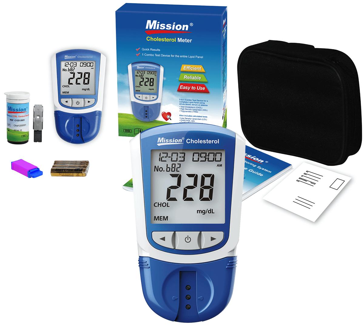Kit Monitor de Perfil Lipídico Completo Mission + 50 Tiras