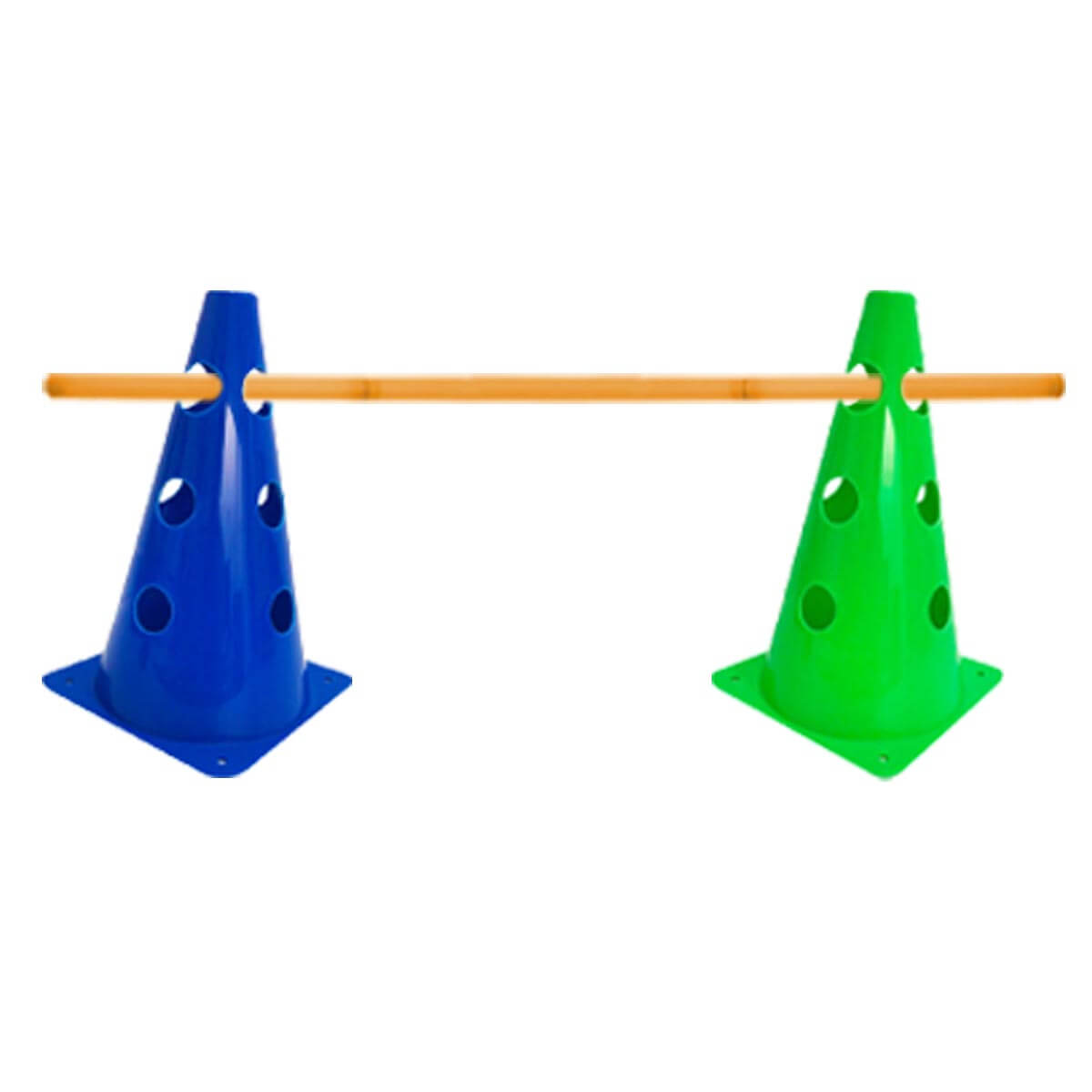 Kit Treinamento Funcional Cone Furado 23cm + Barreira 90cm