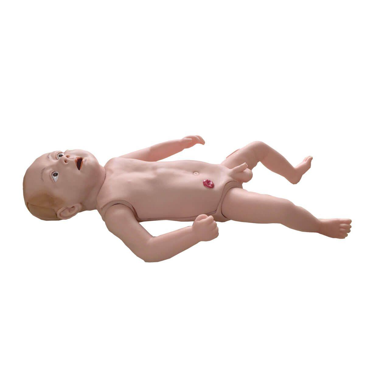 Manequim Bebê Bissexual com Órgãos Internos para Treino de Enfermagem