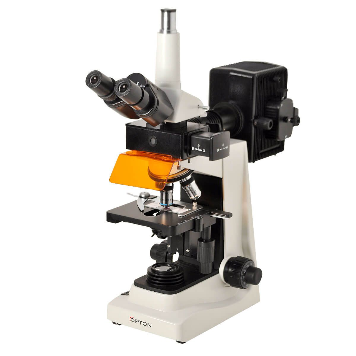 Microscópio Trinocular Fluorescência 40x até 1600x Objetiva Planacromática E Iluminação Epscópica 100w Hbo/diascópica 20w Halogênio