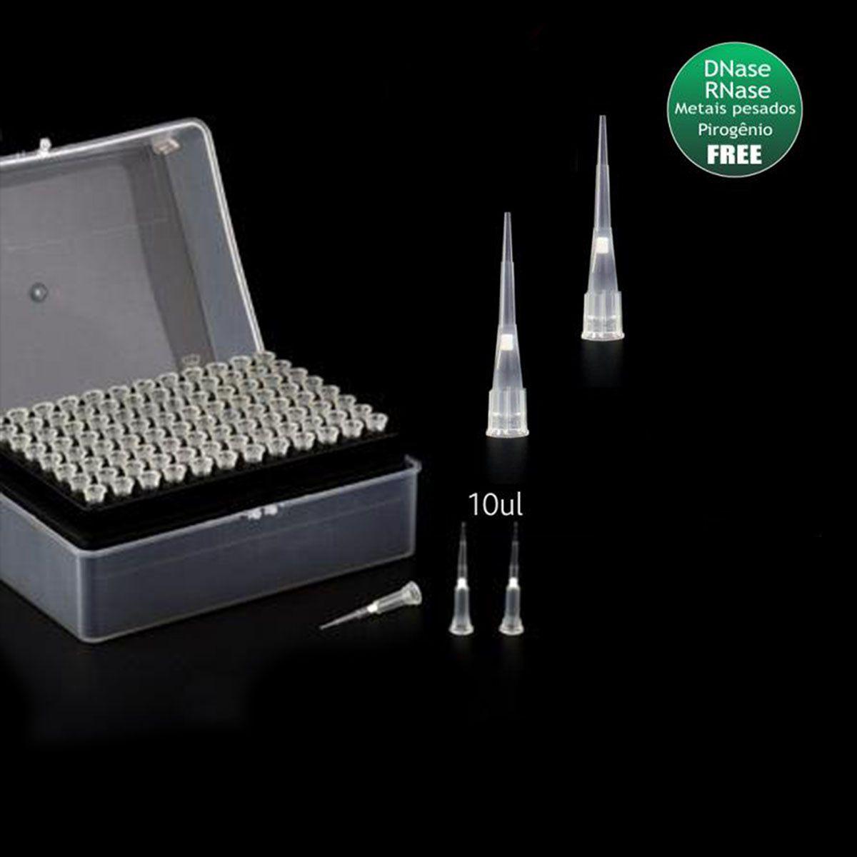 Ponteira Pcr com Filtro Tipo Gilson Estéril Rack 96 Unidades