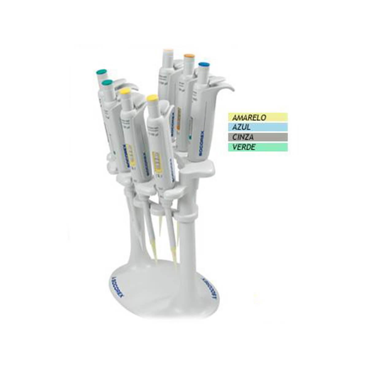 Rack para 7 Micropipetas Monocanais