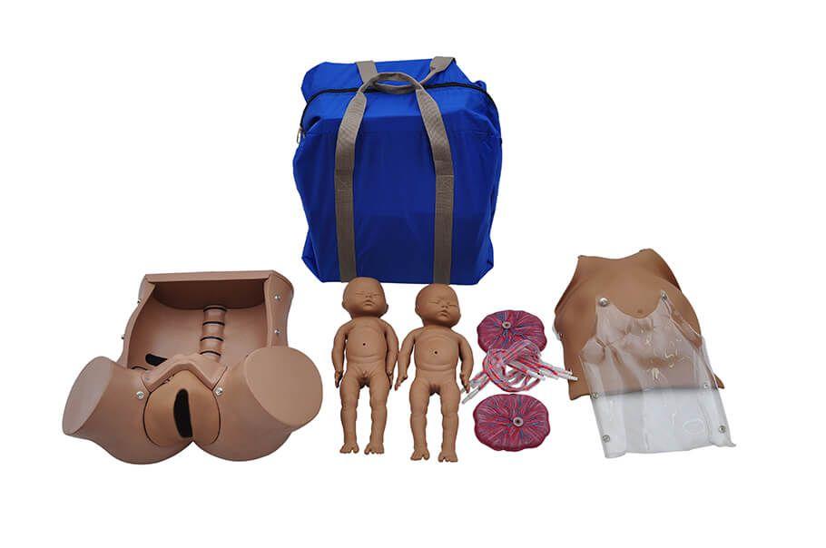 Simulador de Parto Gemelar com Placenta E Cordão Umbilicar