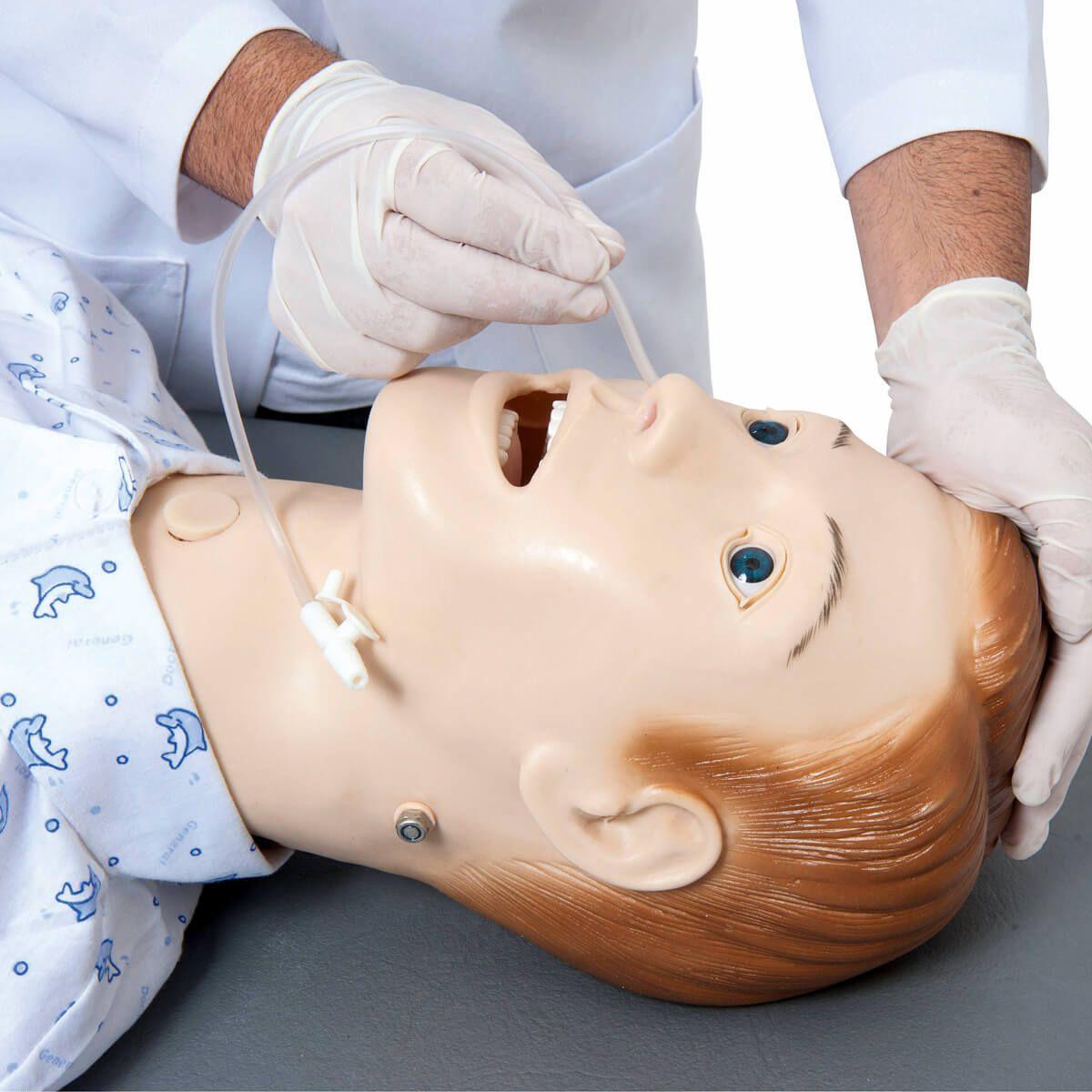 Simulador Manequim Bissexual com Órgãos Internos para Treino de Enfermagem