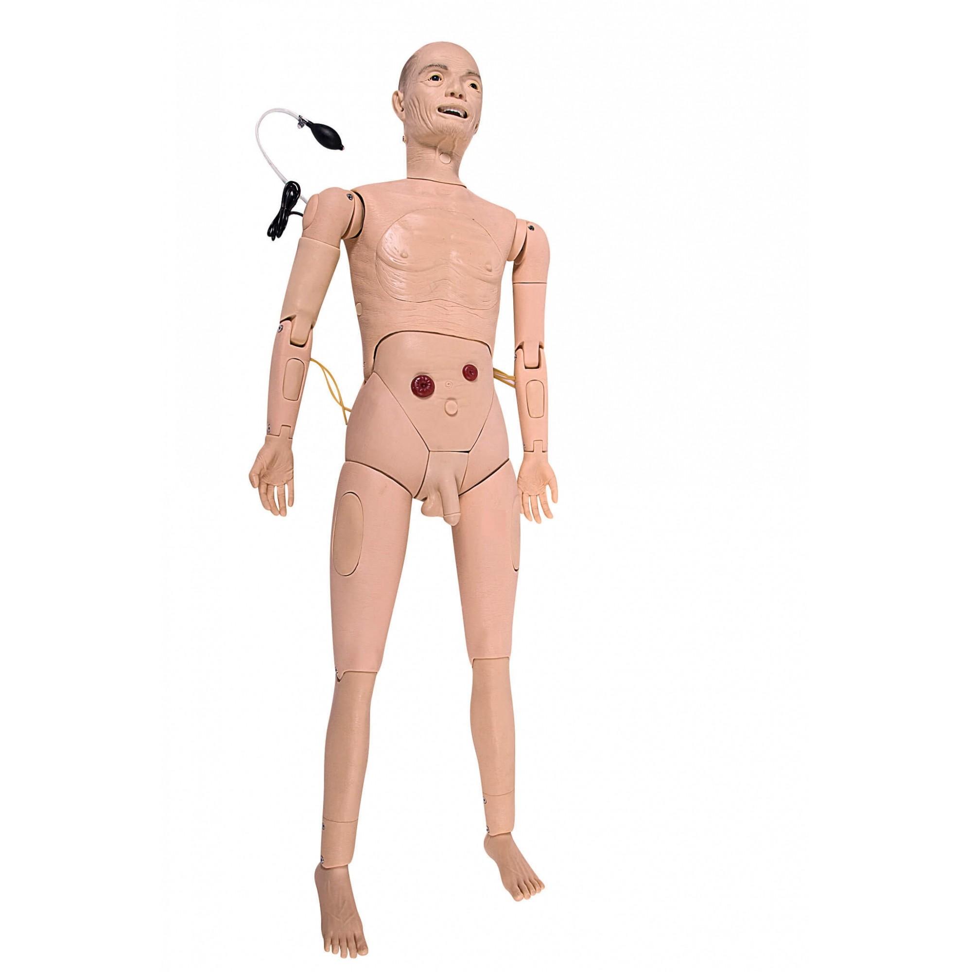 Simulador Manequim Geriátrico Bissexual Simulador Avançado para Enfermagem (vovô)