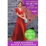 KIT PANTALONA VERMELHO CORAGEM - BAIXAS