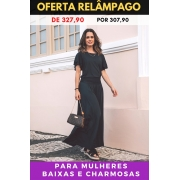 PANTALONA PRETO DIAMANTE CLÁSSICO - BAIXAS