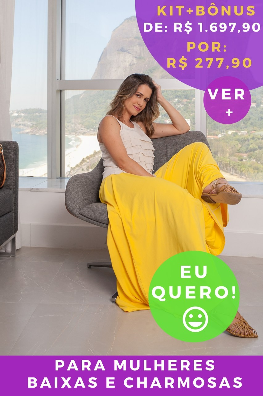 KIT PANTALONA AMARELO PROSPERIDADE - BAIXAS