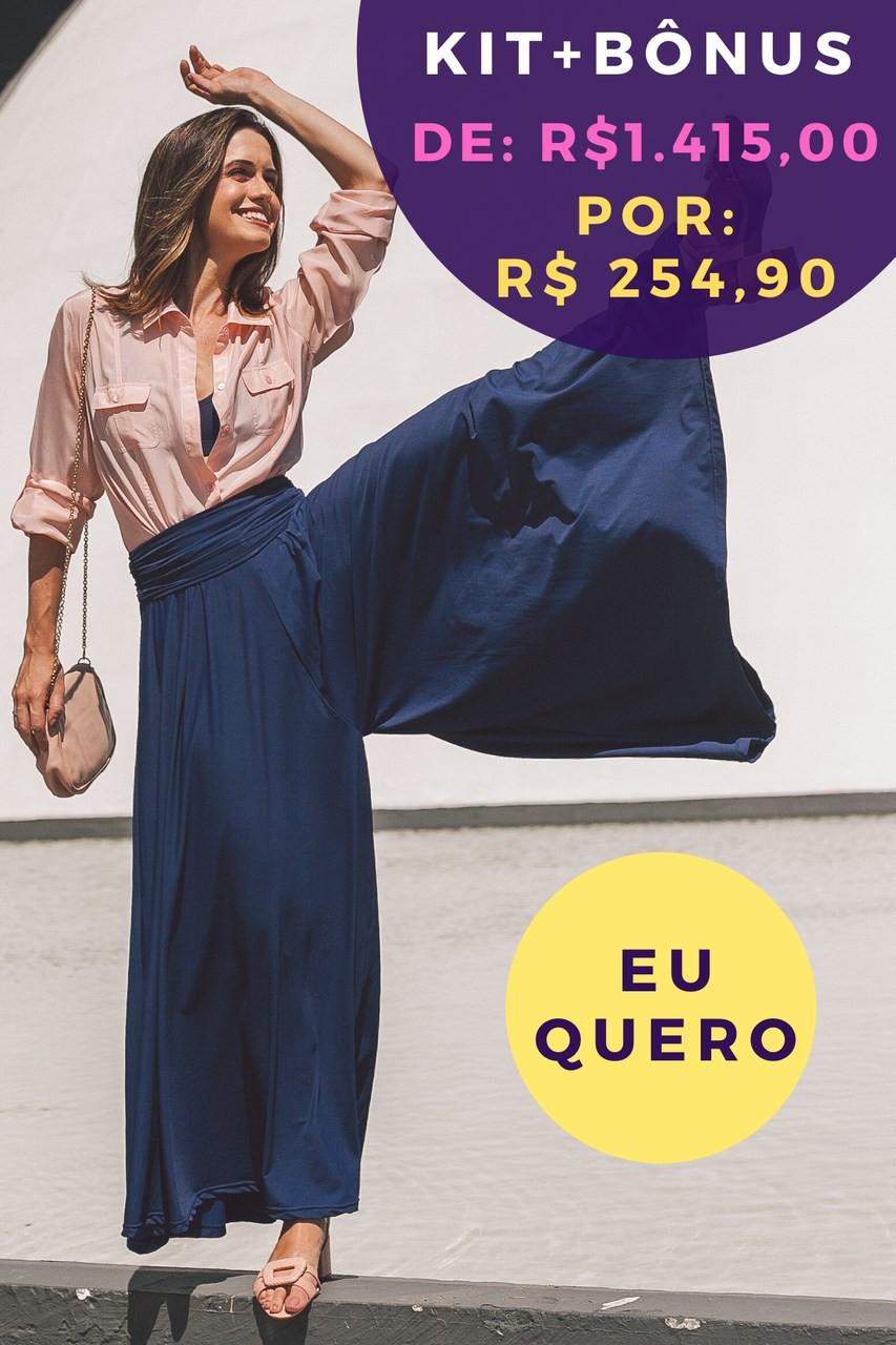 Kit Pantalona Azul Profundo