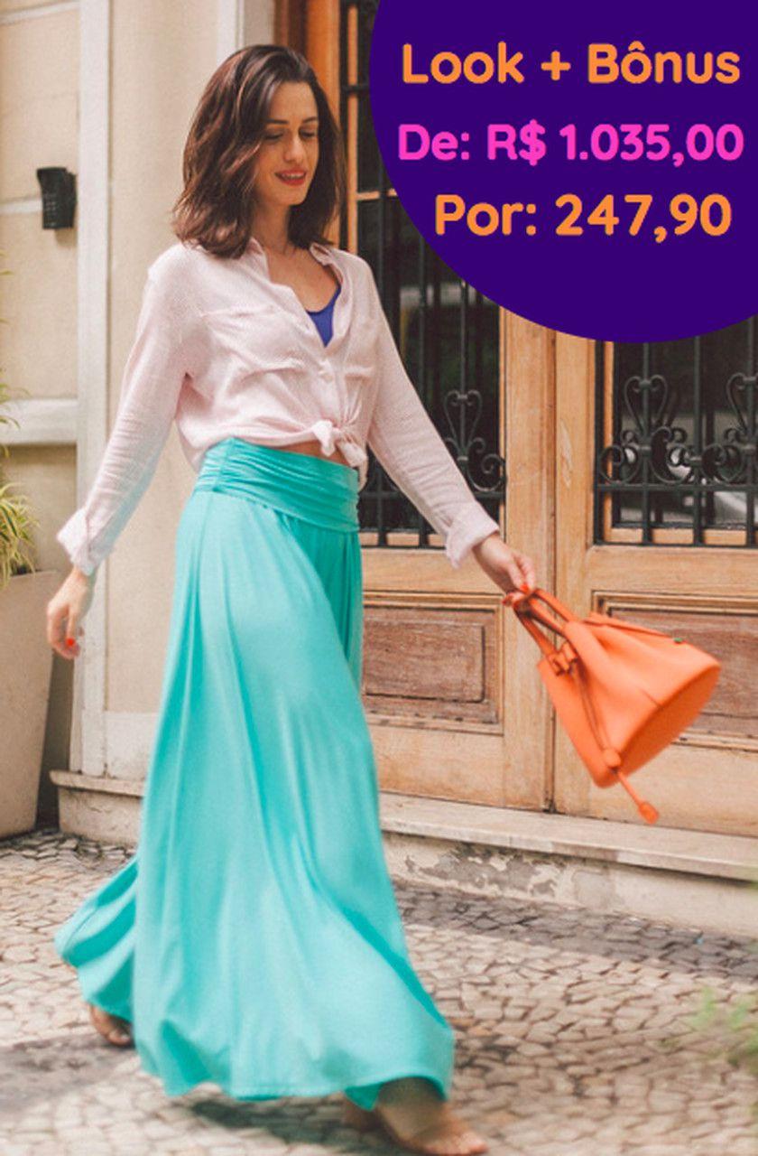 Kit Pantalona Azul Tifany