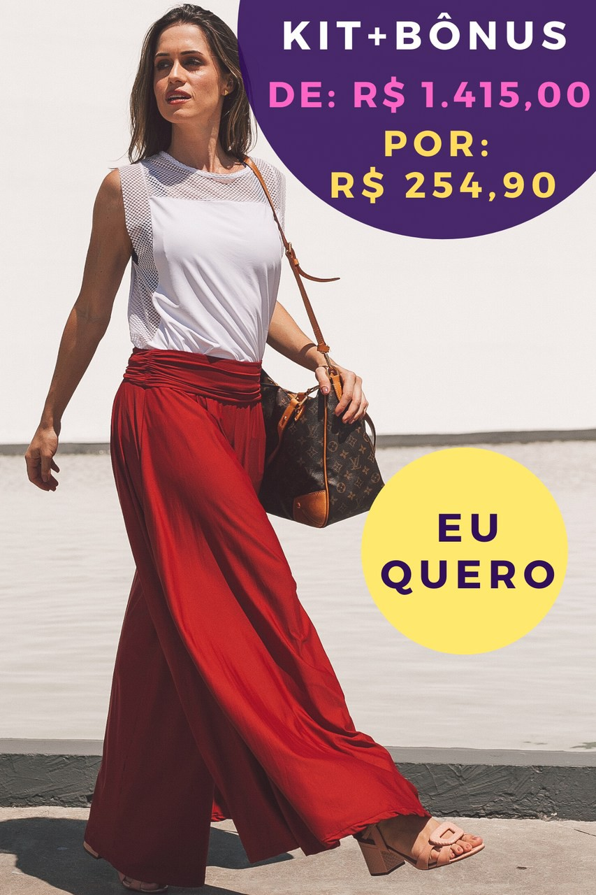 Kit Pantalona Vermelho Ágata de Fogo