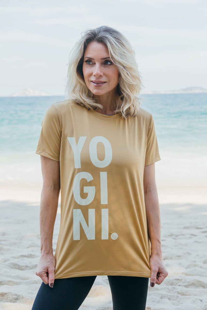 T-SHIRT YOGINI GOLD
