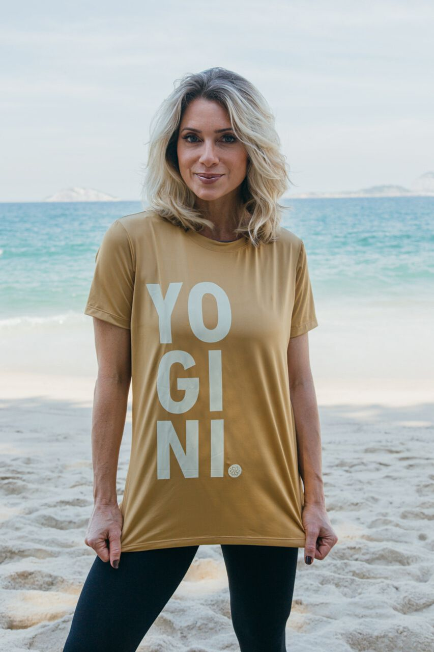 T-SHIRT YOGINI GOLD
