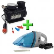 Combo TechOne - Aspirador de Pó B-2725 e Compressor Portátil 12V B-2728 - Kit TechOne Aspirador e Compressor