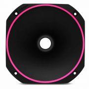 Corneta curta de rosca Fiamon Bi color Fluorescente Rosa