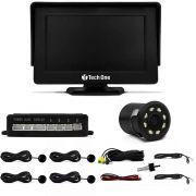 Kit Estacionamento Tech One – Sensores + Tela + Câmera de Ré Noturna – Preto