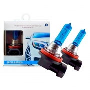 Kit Lâmpada Techone H16 19w Super branca 8500k 12v - Z-0771 (H16 CACHIMBO)