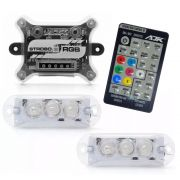 Kit Strobo AJK RGB IR Control com 2 Faróis e Controle Remoto