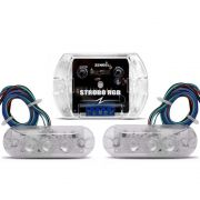 Kit Strobo Zendel RGB 7 cores c/ 2 faróis de LED