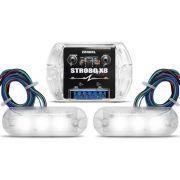 Kit Strobo Zendel X8 Branco c/ 2 faróis de LED