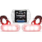 Kit Strobo Zendel X8 Vermelho c/ 2 faróis de LED