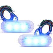 Par de Farol Strobo Avulso Zendel X8 LED Azul