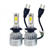 PAR SUPER LED H-TECH FAROL H7 - 8000 LÚMENS - SUPER BRANCO 6500K - 36 WATTS - 9V A 32V -  CÓD. SLH7