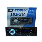 Rádio MP3 Player Automotivo D-Max D-6080 - USB / Aux/Sd