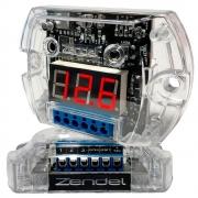 VOLTÍMETRO SEQUENCIAL DIGITAL ZENDEL 12V DISPLAY LED VERMELHO (SEQUENCIADOR C/ 3 SAÍDAS REMOTAS) - ZENDEL 2742 ZD-VO-SQ