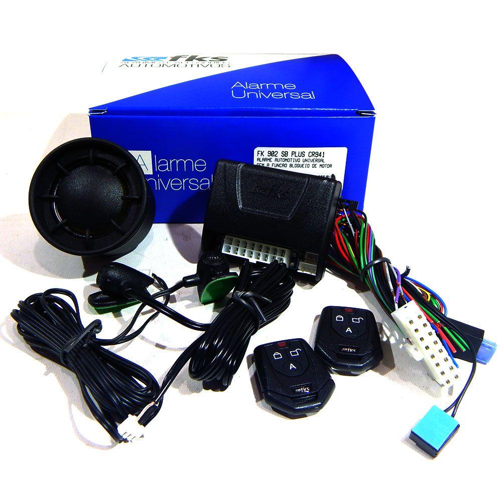Alarme Automotivo FKS FK902 SB Plus Controle CR941 Universal