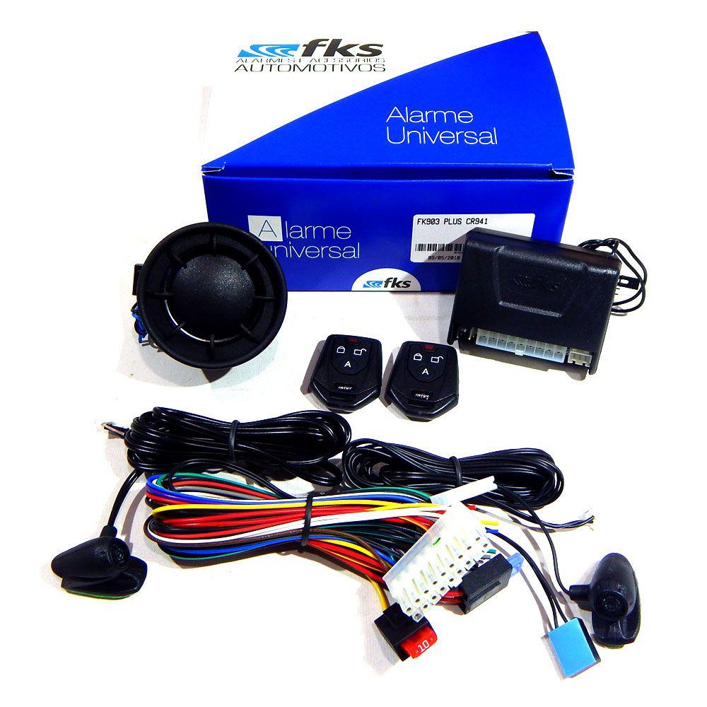 Alarme Automotivo FKS FK903 Plus com controle CR941 - Universal