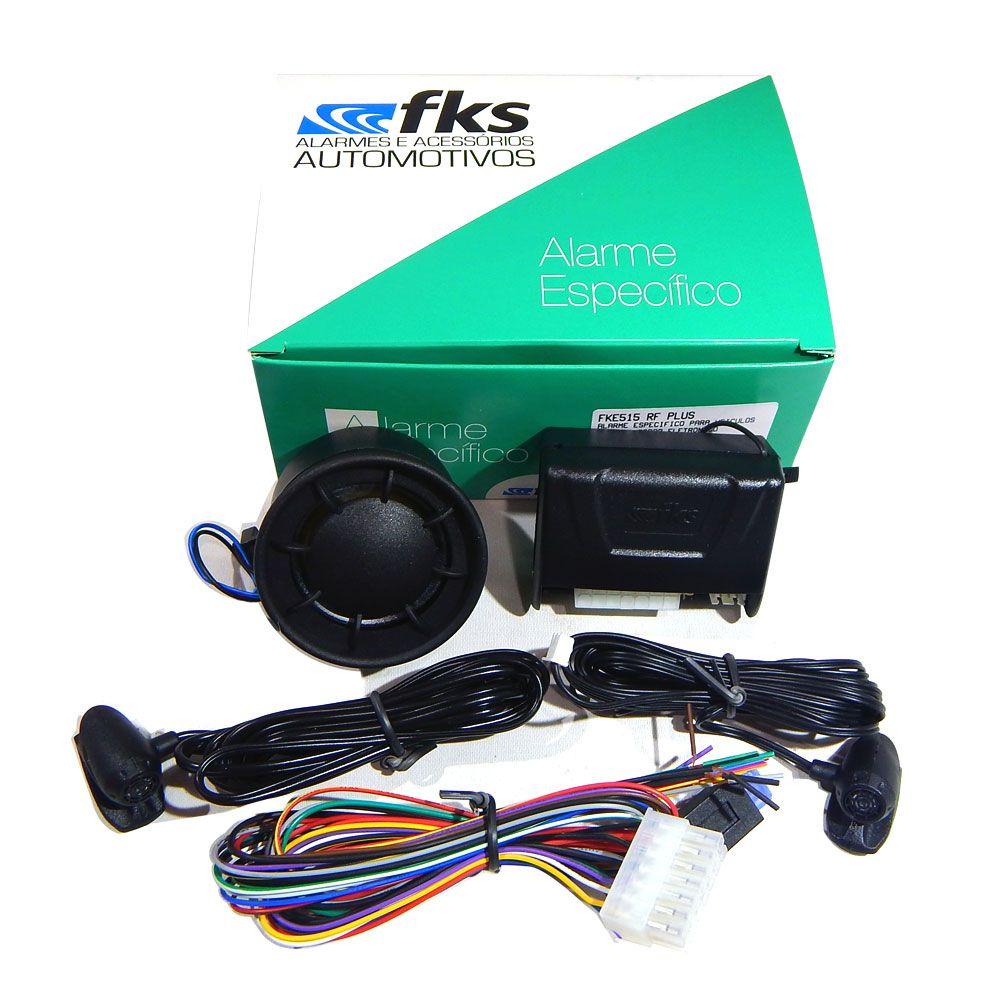 Alarme Automotivo FKS FKE515 –P/Carros c/Chaveador Original