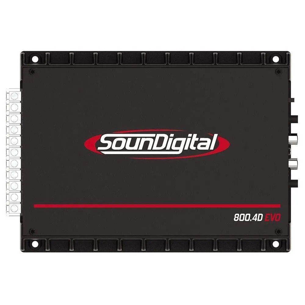 Amplificador Digital Soundigital Sd800.4d Evo2 800w - 2 Ohms