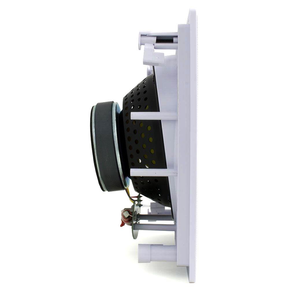 """Arandela Quadrada Angulada JBL CI8SA c/ Alto Falante Coaxial 8"""" - 100W RMS - c/ Tela Branca"""