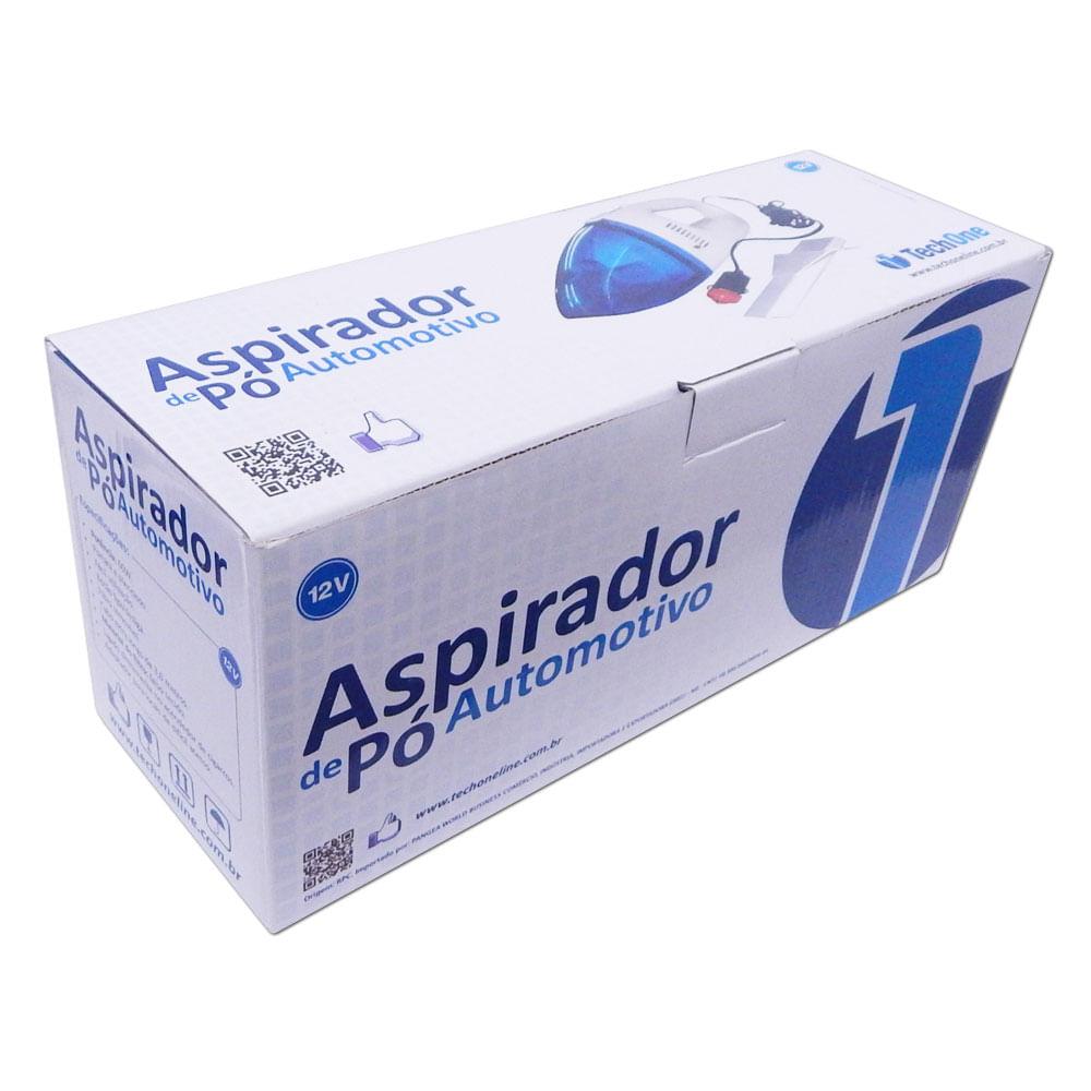 Aspirador de Pó Portátil p/ Carro 12V TechOne - Filtro Removível - Z-2725 - ASPIRADOR
