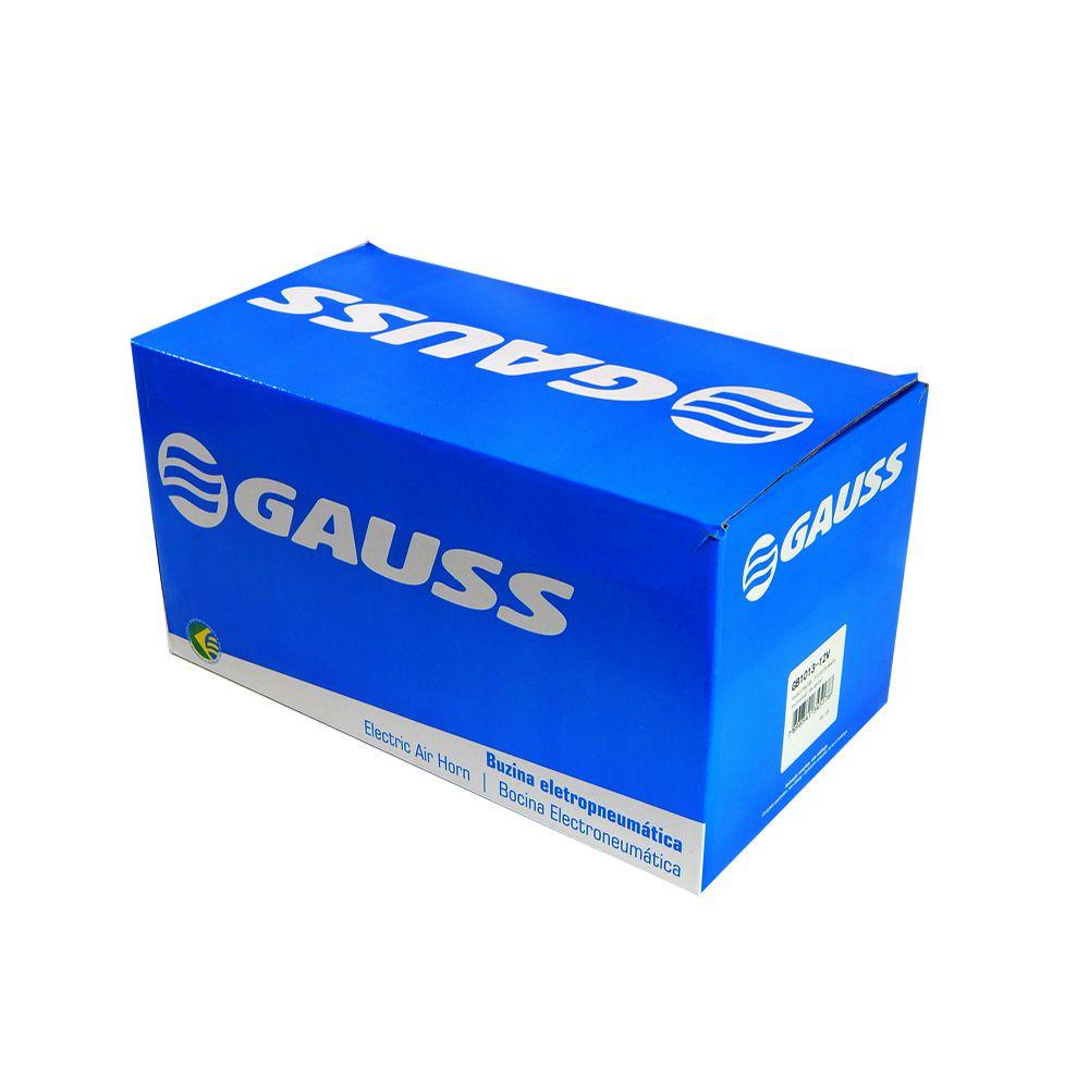 Buzina Automotiva Gauss 3 Cornetas Eletropneum.12V - GB1013