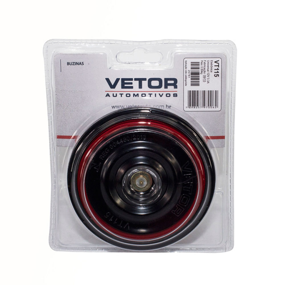 Buzina Automotiva VTO VT115 Bi Bi Peq 12V Mercedes-Benz e VW - VT115