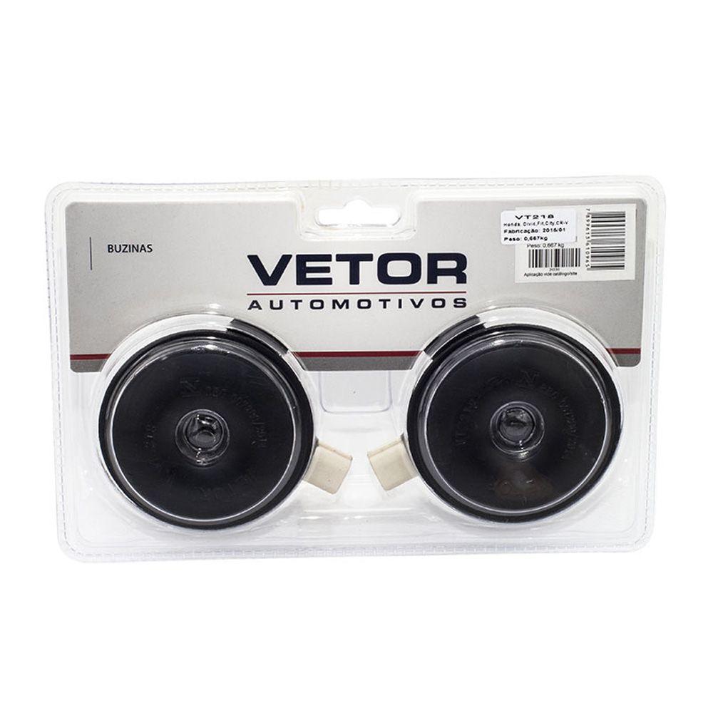 Buzina Bi-Bi Vetor VT218 Específica Honda CR-V Civic Fit