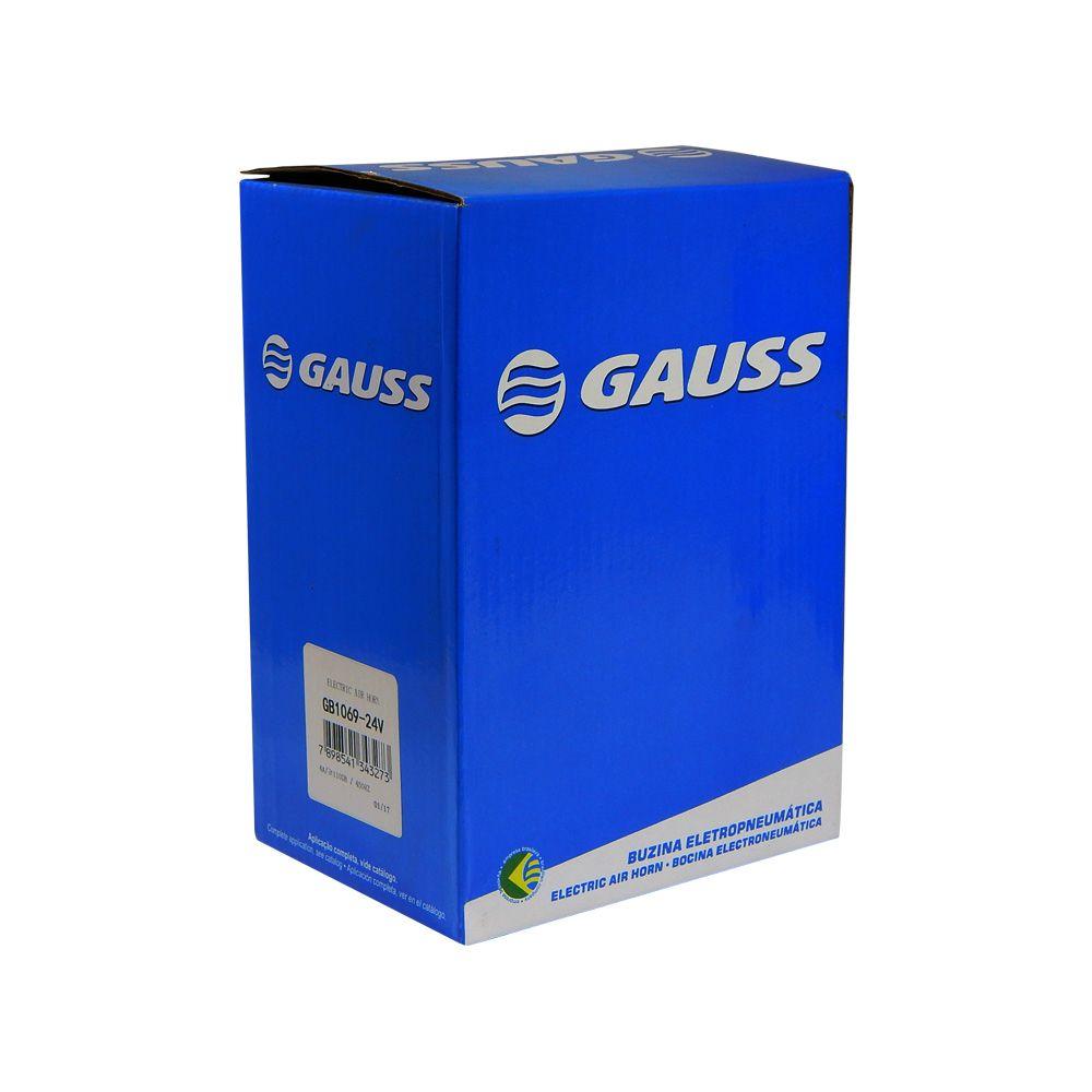 Buzina Pneumática Caminhão Gauss 1 Corneta 24V - GB 1069