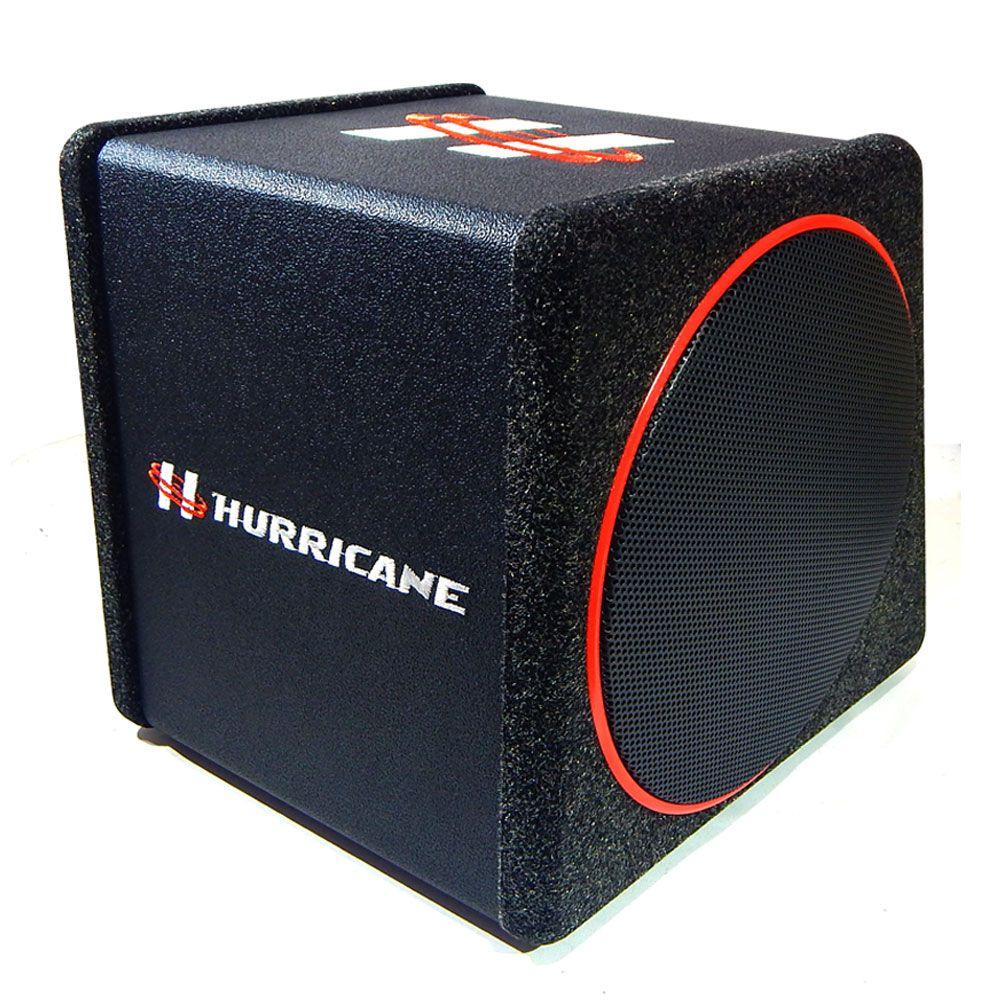 "Caixa Amplificada Sub 10"" Hurricane - 230W RMS"