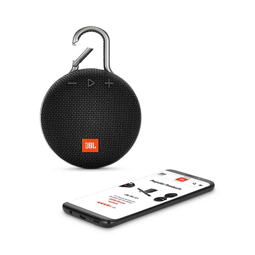 Caixa de Som Portátil JBL Clip 3 Preta  Bluetooth