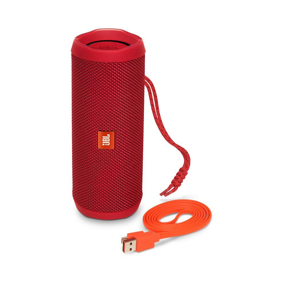 Caixa de Som Portátil JBL Flip 4 Vermelha Bluetooth