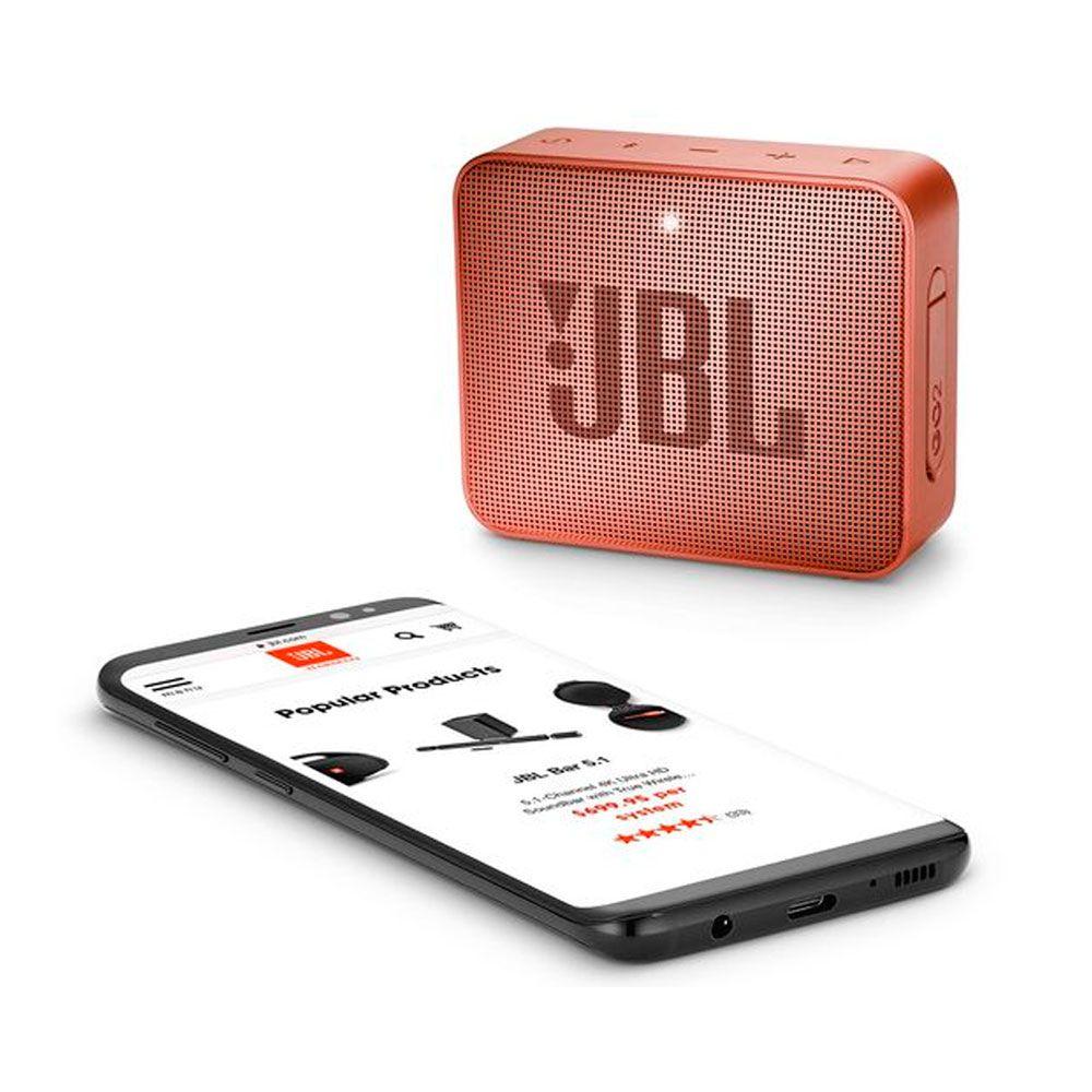 Caixa de Som Portátil JBL Go 2 Marron Dourado Bluetooth