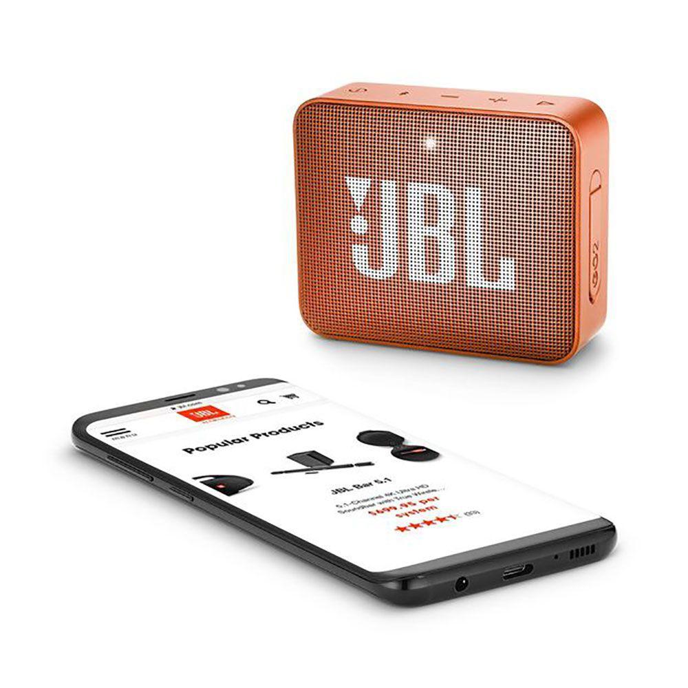 Caixa de Som Portátil JBL Go 2 Orange Bluetooth - LARANJA