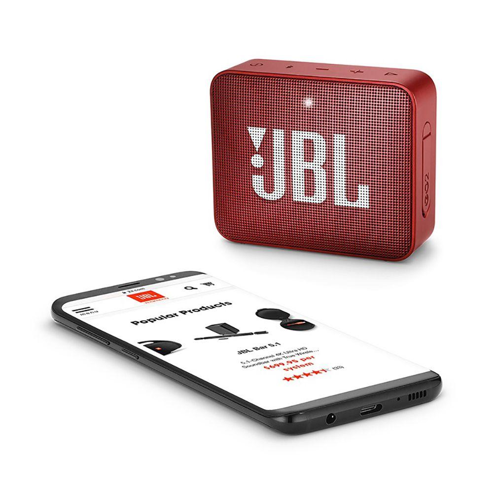 Caixa de Som Portátil JBL Go 2 Vermelha  Bluetooth