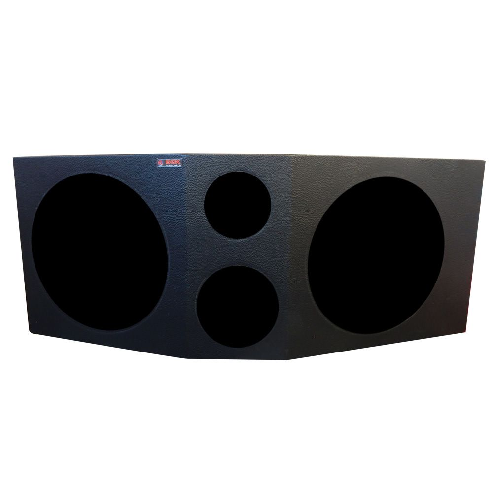 """Caixa de Som Super Trio Dupla 12"""" 2x39 Litros"""