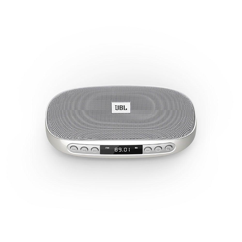Caixa Som Portátil JBL Tune Silver-Bluetooth USB SD FM CINZA