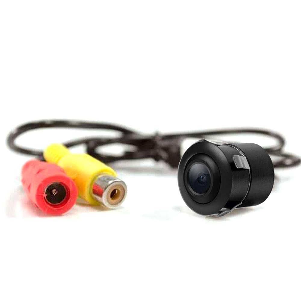 Câmera de Ré Colorida TechOne Flex 2 Fixações BORBOLETA / EMBUTIR - 2265 - CAMERA FLEX PRETA