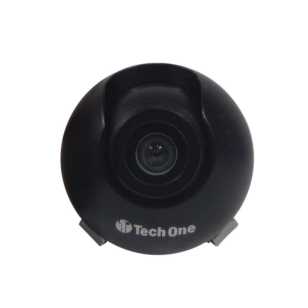 Câmera de Ré Mini Tartaruga Tech One Colorida com RCA - 170°