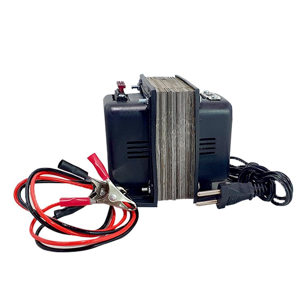 Carregador de Bateria 10A c/ Fusível e Chave Bivolt 110/220V - CARREGADOR 10A